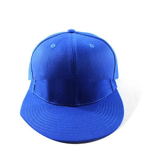 野球帽 ヒップホップフラットハットカスタムメイドの立体的な帽子,青,調節可能な