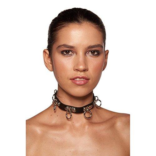 Choker Collar with Drop Rings (Black)