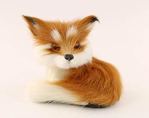nanguawu Little Fox Sitting Fengshui Learning Resources Miniature Plush Stuffed Animal Toy