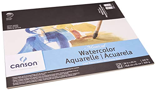 Montval Acid-Free Cold Press Watercolor Paper, 140 lb, 18 X 24 in, Natural White ()