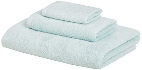 AmazonBasics Quick Dry 3 Piece Towel Blue