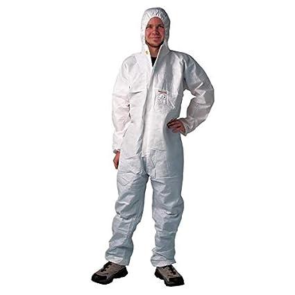 1 x lackier Traje Talla XL en blanco traje de protección ...