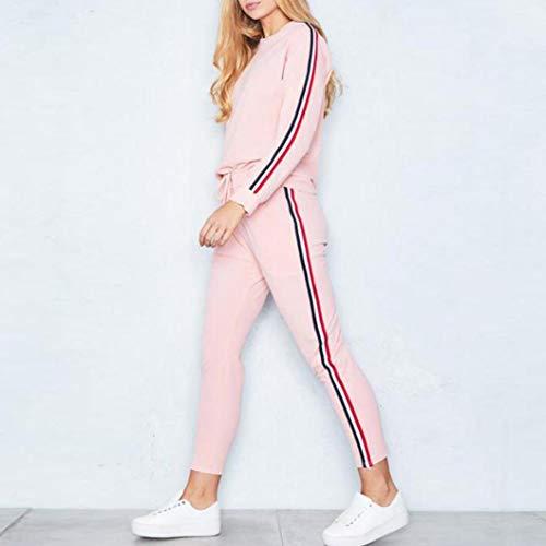 da Rosa Tuta casuale LQQSTORE felpe Donna Pantaloni Sottile sport Sottile felpa Top donna suit set indossare gZxwwq5f