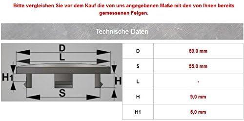 4/X TAPPI mozzo 59/mm//55/mm Mozzo Tappo per Universal