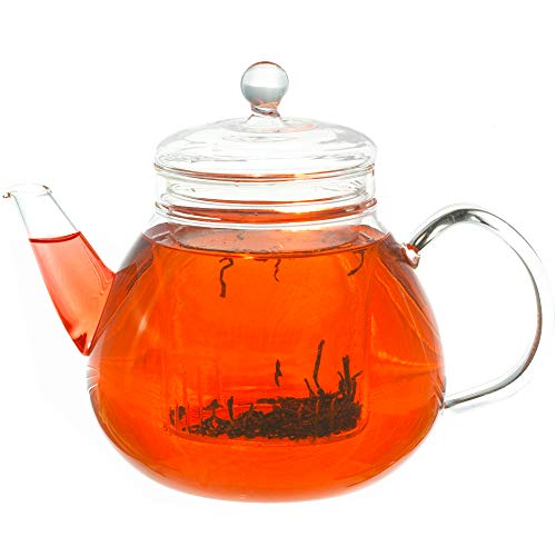 GROSCHE GLASGOW Glass Teapot with Infuser , 1000 ml 34 Fl Oz capacity