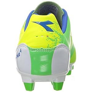 Diadora Soccer Unisex-Kids DD-NA MD PU Jr Sneaker, Yellow Flou/Green, 4.5 M US Big Kid