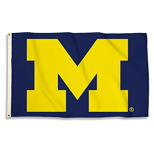 (BSI NCAA Michigan Wolverines Michigan Wolverines2-Sided 3'. x 5'. Flag W/Grommetsmichigan Wolverines2-Sided 3'. x 5'. Flag W/Grommets, Multi)