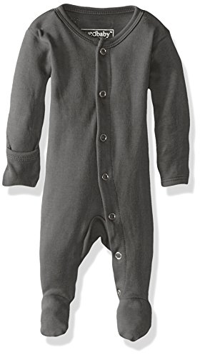 L'ovedbaby Unisex-Baby Organic Cotton Footed Overall, Gray, 0/3 Months ()