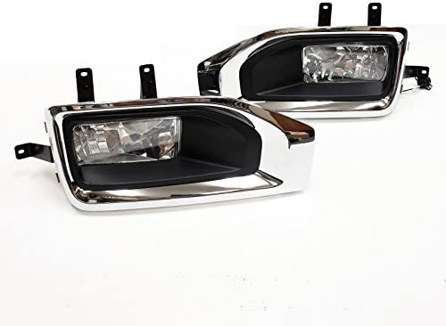 Fits 2015-2018 GMC Yukon//XL Bumper Fog Light Lamp w//Switch+Harness+Bezel Clear