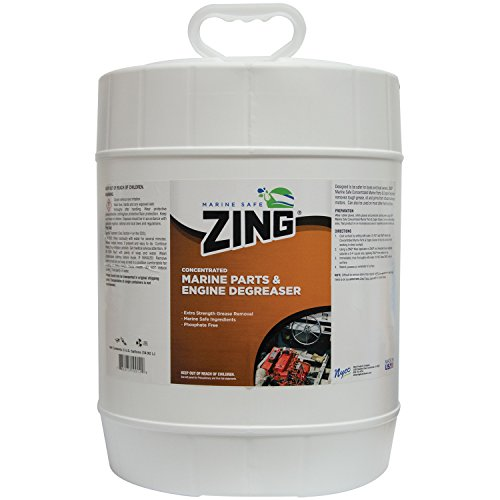 ZING Z392-P5 Marine Safe Concentrated Marine Parts & Engine Degreaser - 5 Gallon by Zing