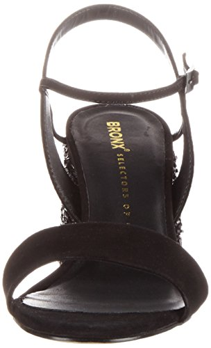 Bronx Bx 1254 Bjaggerx - Sandalias con cuña Mujer Schwarz (Black)
