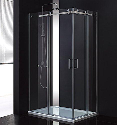 LUX Aqua ducha deslizante Mampara de ducha con vidrio de puerta puerta corrediza (8 mm) nuevo msst412l: Amazon.es: Bricolaje y herramientas