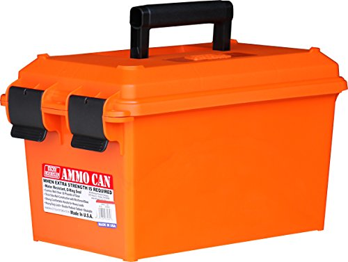 MTM Ammo Can - Dry Storage Emergency Marine Box - - Handle Polypropylene Orange