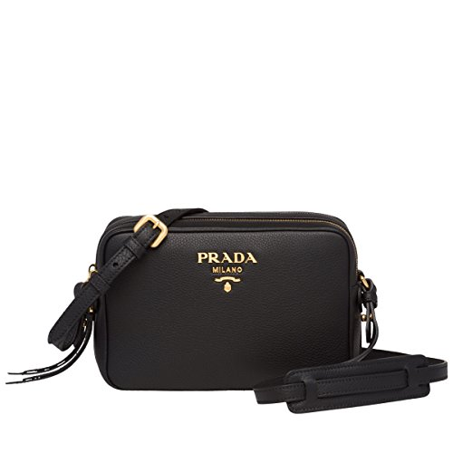 Authentic Prada Leather Handbag - PRADA Bags Cross Body Shoulder Tote Handbags Black Leather 100% authentic
