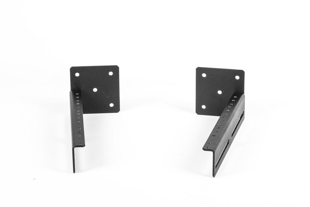 5U Universal Wall Mount Bracket Set, Black 0203-01F. AMERICAN MADE! by ISC