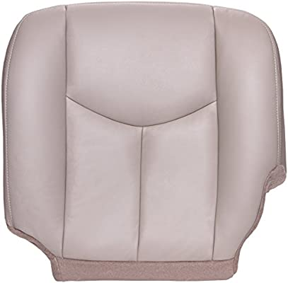 2003 2004 Chevy Tahoe Suburban Front Driver Bottom Leather Seat Cover Shale Tan