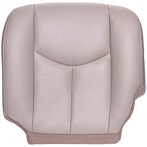 The Seat Shop Driver Bottom Replacement Seat Cover - Shale (Tan) Leather (Compatible with 2003-2006 Chevrolet Tahoe, Suburban, and GMC Yukon, Yukon XL)