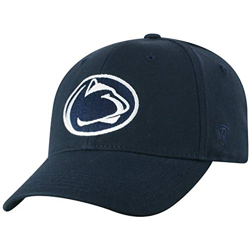 Top of the World Penn State Nittany Lions Men's Memory Fit Hat Icon, Navy, One Fit