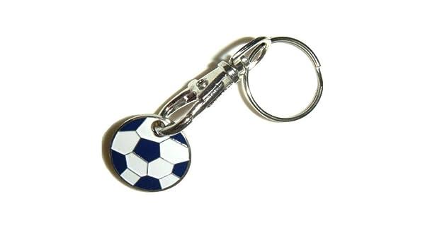 2 x llavero con moneda para carro de balón de fútbol con ruedas ...