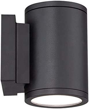 WAC Lighting WS-W2604-BK Tube LED Outdoor Wall Light Fixture