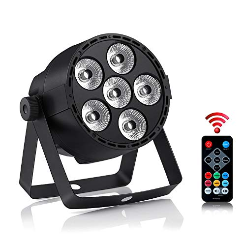 Led Par Lights 4 IN 1 RGBW 24W Stage Lights by DMX 512 IR Remote Control and Sound Activated for Club Disco Party Ballroom KTV Bar Wedding DJ Live Show Christmas party