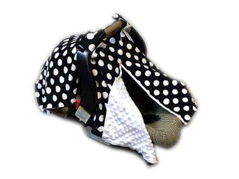 BayB Brand Car Seat Cover - Black Polka Dot