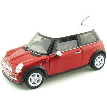 mini cooper red 1 24 diecast model car toys. Black Bedroom Furniture Sets. Home Design Ideas