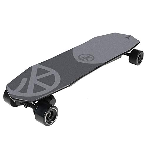 VOKUL V2 Electric Skateboard Longboard | 14 Miles Max Range | 19 MPH Top Speed | Dual 900W Motor | Recommended Max Load 264 Lbs | PU Wheel 90x52 mm Black | 8 Ply Deck | 8.8Ah Lithium Battery (Best Budget Electric Skateboard)