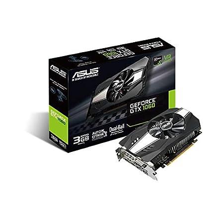 ASUS PH-GTX1060-3G GDDR5 - Tarjeta gráfica (NVIDIA, GeForce GTX 1060, 7680 x 4320 Pixeles, 1506 MHz, 1708 MHz)