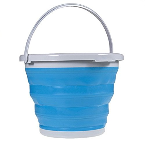 10l Bucket - Collapsible Cleaning Bucket | Foldable Bucket (Large - 10 Liter - 2.6 Gallons) | Silicone | Beach | Cooler