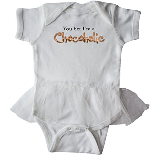 Inktastic - You Bet I'm a Chocoholic Infant Tutu Bodysuit Newborn White (Body Chocoholics)