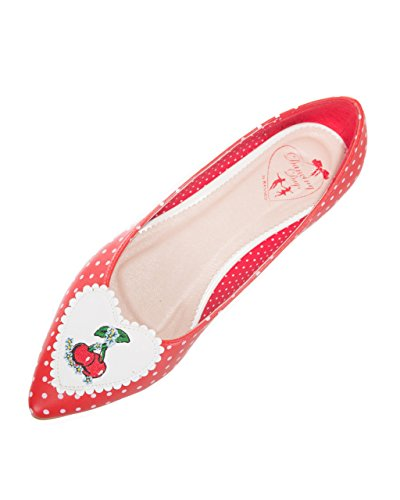 Polka Pumps Apparel Dot Retro Vintage Cherry Ballerina Banned Pointed FgAZcSWAf
