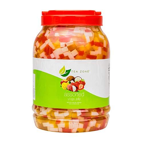 Assorted Yogo Jelly, Flavorful Beverage Sensation & Dessert Enhancer, 8lb Jar