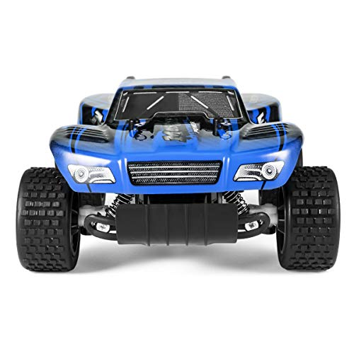 KYAMRC Remote Control Car Electric RC Cars for Kids & Adults, 2.4Ghz 20KM/H High Speed Racing Trucks Stunt Off Road Monster Vehicle Toys for Boys & Girls (Blue)
