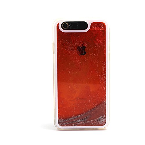 "LifeBox Glow in The Dark Cell Phone Case for Apple iPhone 6 4.7"" - Retail Packaging - Fire Red"