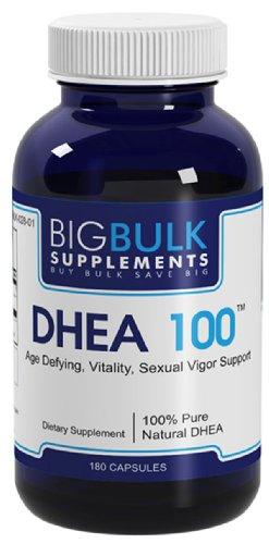 DHEA 100 Soutien équilibre hormonal pour hommes et femmes vrac Big suplements DHEA 100mg 180 Capsules 1 Bouteille