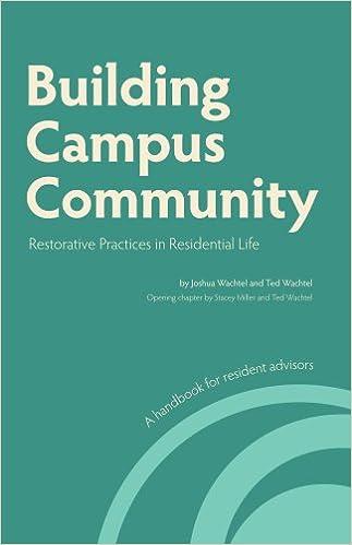 Building Campus Community: Restorative Practices in Residential Life