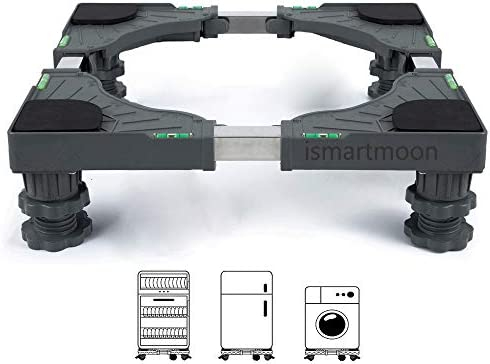 4 feets Multi-Functional Adjustable Movable Refrigerator Stand Base for Adjustable Dryer COOL2DAY Universal Mobile Base Fridge Stand with 4 Strong Feet Washing Machine and Mini Refrigerator