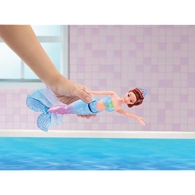 Disney Princess Swimming Mermaid Ariel's Sister Aquata Doll: Toys & Games