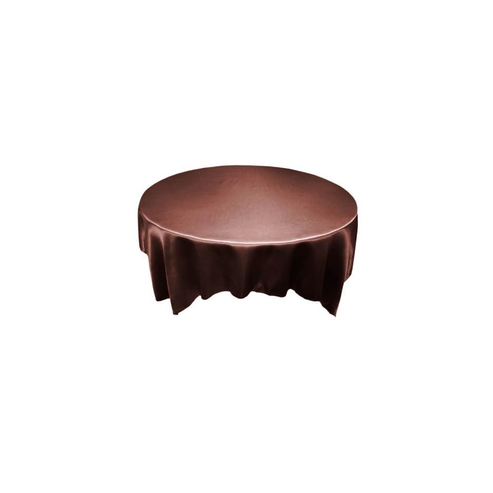 BalsaCircle 90x90 Square SATIN Table Overlays Wedding Decorations   Chocolate Brown