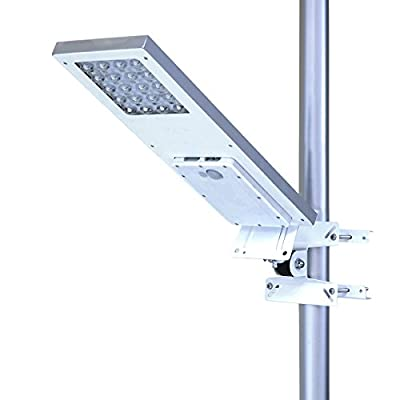 ALPHA 1080X Street Light , 3-Mode Setting, Lithium Battery, Wide Angle 4-Axis Adjustment for Optimum Sunlight Exposure, Fit Max Pole Diameter 3""