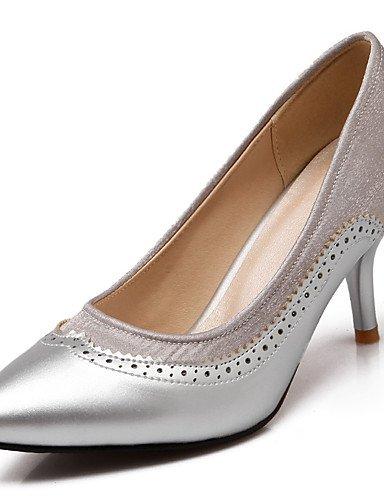 GGX/Damen Schuhe Stiletto Ferse/spitz Heels Büro & Karriere/Kleid Schwarz/Grün/Lila/Rot/Silber/Beige beige-us11 / eu43 / uk9 / cn44