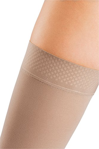 mediven Comfort, 20-30 mmHg, Thigh High Compression Stockings w/Silicone Top-Band, Closed Toe by mediven (Image #1)