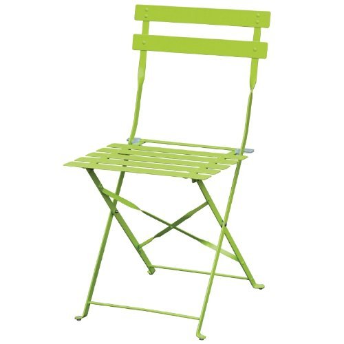 2X Bolero Pavement Style Steel Chairs Green For Indoor And Outdoor 800X387X471mm