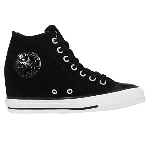 Lux Converse Star Mid Converse Cuir Noir En 549558c Ct All baskets Chaussures S57q7pw0