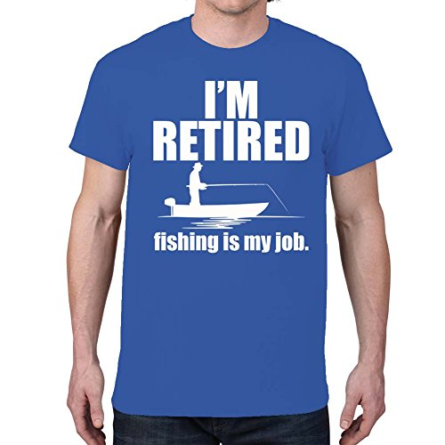 Men's I'M RETIRED... Fishing Royal Blue T-shirt