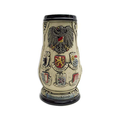 - Beer Stein Engraved Edelweiss Germany Coats of Arms Beer Mug by E.H.G. | 0.7 Liter
