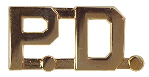 Tactical 365 Operation First Response Pair of Police Department P.D. Insignia Pins (Gold)