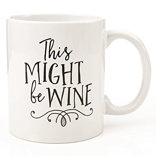 Eitly Might Be Wine Mug, 11 oz (Oversized Wooden Spoon compare prices)