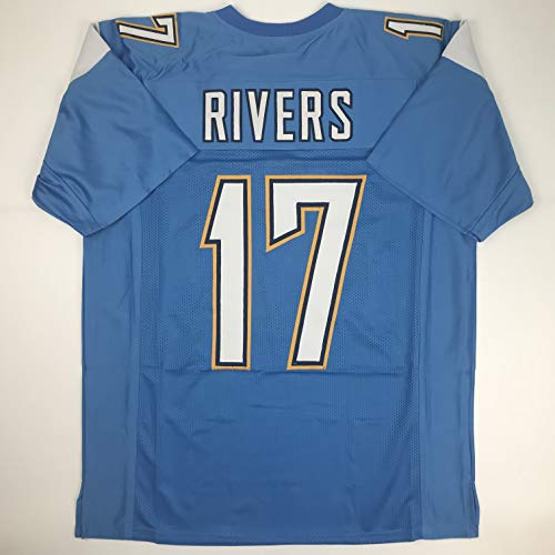 Unsigned Philip Rivers Los Angeles LA Powder Blue Custom Stitched Football Jersey Size Men's XL New No ()